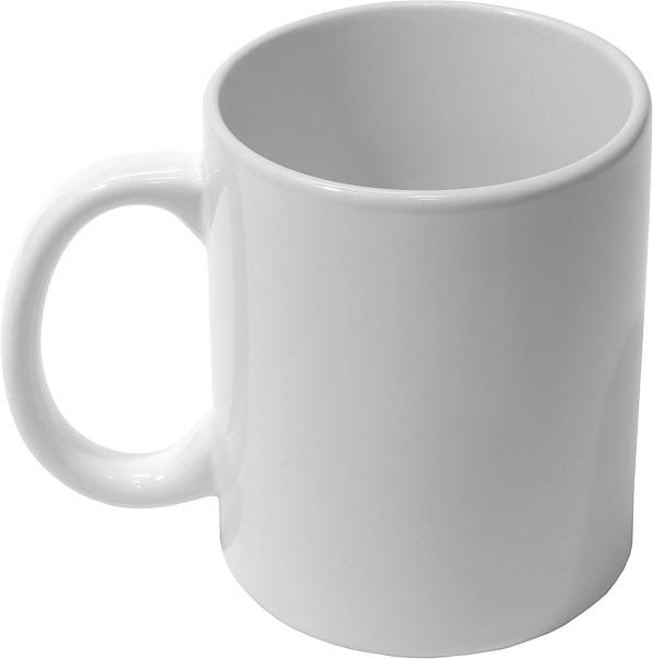 нанесення логотипу на білій чашці