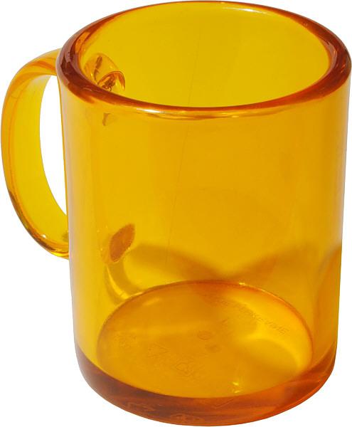 Недорога чашка пластикова прозора жовта для акцій